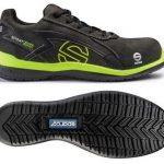 Sparco s0751639grgf Sport Evo Sneaker, Grau/Gelb, Größe 39
