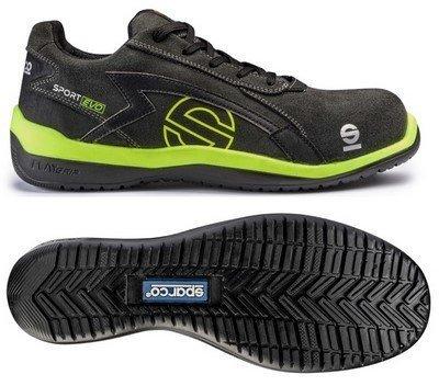 sparco s0751639grgf sport evo sneaker graugelb groesse 39 - Sparco s0751639grgf Sport Evo Sneaker, Grau/Gelb, Größe 39