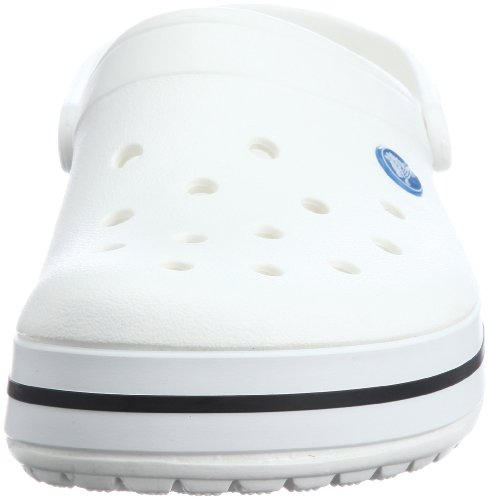 crocs Unisex-Erwachsene Crocband U' Clogs, Weiß (White), 45/46 EU