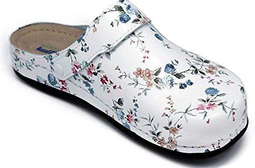 AWC Damen Berufsschuhe Tiefbett, Farbe: Blumen, Größe: 39