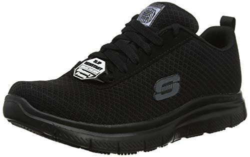 Skechers Herren Flex Advantage Bendon Sneaker Schwarz Black MeshWater - Skechers Herren Flex Advantage- Bendon Sneaker, Schwarz (Black Mesh/Water & Stain Repellent Treatment Blk), 44 EU