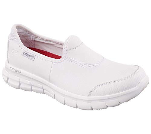Skechers Damen Sure Track Schuh für das Gesundheitswesen, Weiß, 38 EU